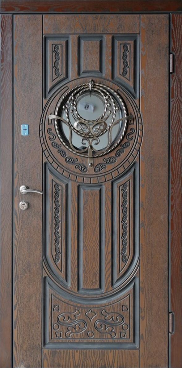 Двері вхідні ТМ «Lvivski Polimer» серія «Optima New » модель 14 960х2050